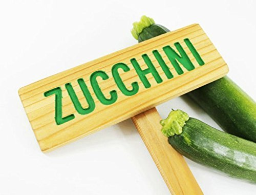 ZUCCHINI Garden Sign: Hand Routed, Vegetable Plant Garden Markers, Wood  Garden Sign,