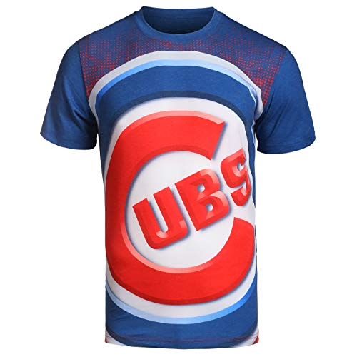 FOCO MLB Chicago Cubs Big Logo TEE Double Extra Large