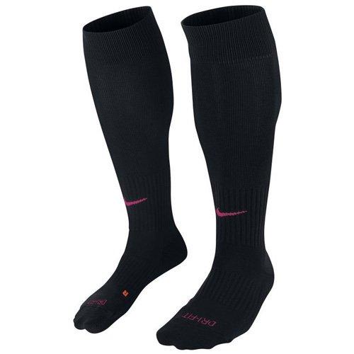 Nike Cushioned Classic Dri-Fit Soccer Socks Black (6-8, Black/Pink)