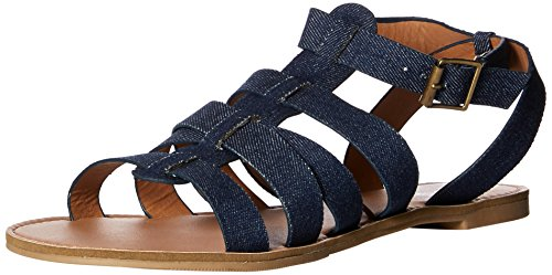 Qupid Women's Caged Flat Sandal