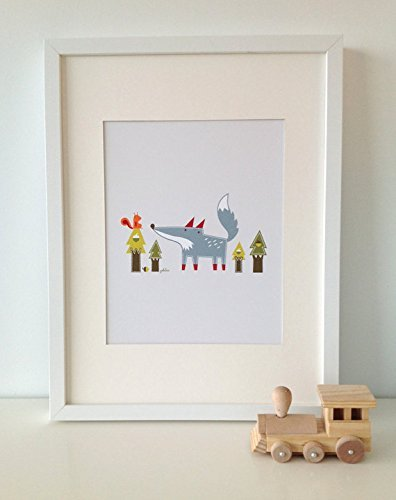 Luca The Wolf // WOLF Print // Wolf Wall Art // Woodland Baby Nursery Decor