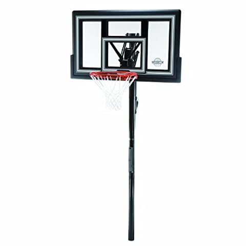 Lifetime 1084 Height Adjustable In Ground Basketball System, 50 Inch Shatterproof Backboard