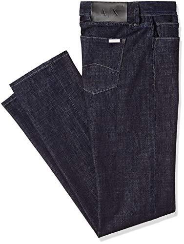 A|X Armani Exchange Men's Slim Fit 5 Pocket Blue Rinse Denim 34