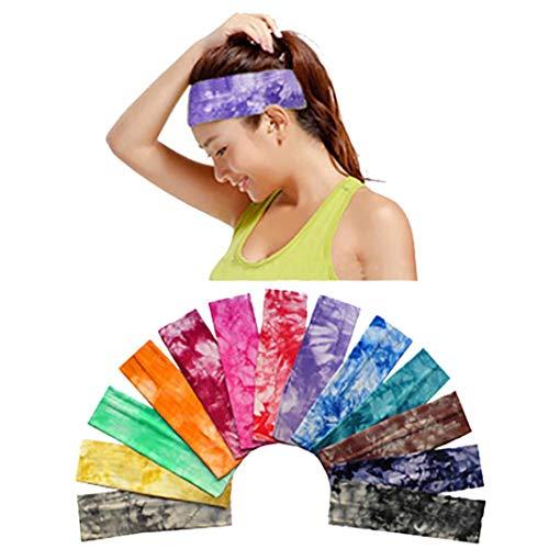 Women Boho Floral Print Cotton Knotted Turban Head Warp Hair Band Elastic Headband Sport Yoga Sweatband for Outdoors & Daily Sport Headwear (Orange) by Appoi Headband Headwrap (Image #1)