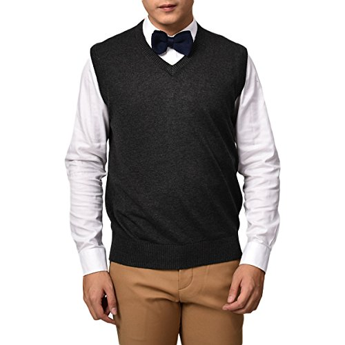 VOBOOM Men's V-Neck Sweater Vest BDYH001