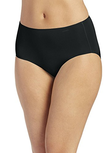 Jockey Women's Underwear No Panty Line Promise Tactel Hip Brief, black, 6