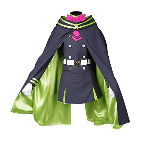 Shinoa Hiragi Costume (Xiao Maomi Womens Uniform Halloween Cosplay Costume Full Set (Woman-L, Picture color))