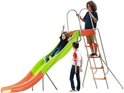SLIDEWHIZZER Outdoor Play Set Kids Slide 10 ft Freestanding Climber, Swingsets, Playground Jungle Gyms Kids Love Above Ground Pool Slide for Summer Backyard