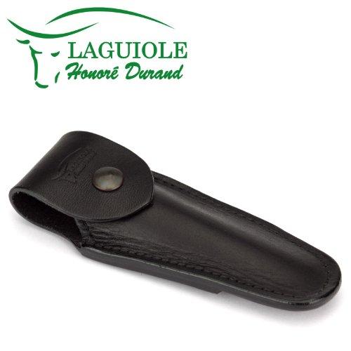 Laguiole Honoré Durand C11/12N schwarzes Gürteletui aus Leder für ein Taschenmesser