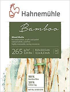 Hahnemuhle Bamboo Mixed Media Pad 3.2''x4.2'' by Bamboo Mixed Media