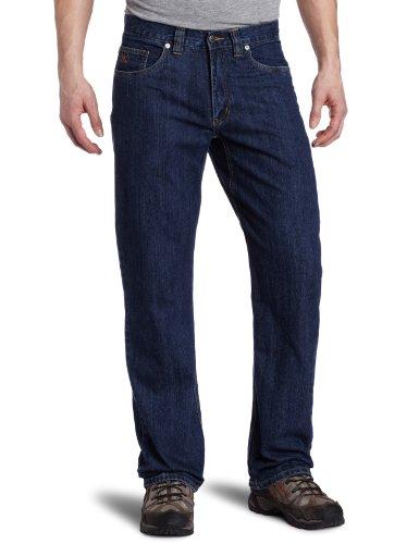 Mountain Khakis Men's Original Mountain Jean Classic Fit (Dark Denim, 33-Width 32-Length)