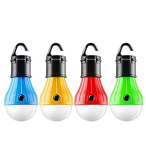 GXOK 4Pc Outdoor Portable Hanging LED Camping Tent Light Bulb Fishing Lantern Lamp (Lightbulb Outdoor Sensor)