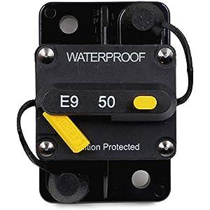 200Amp Flameer 2Pcs Circuit Breaker Motor Car Marine Boat Bike Audio Inline Fuse Inverter Waterproof Case with Manual Reset 12V-24V DC