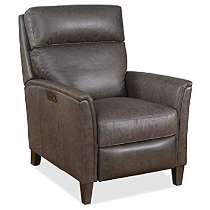 Hooker Furniture Guthrie Leather Power Recliner In Saddlebag Lead