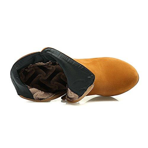 Balamasa Ladies Scarpe Con Tacco A Spillo Stile Preppy Fashion Stivali Con Tacco A Forma Di Cono Giallo