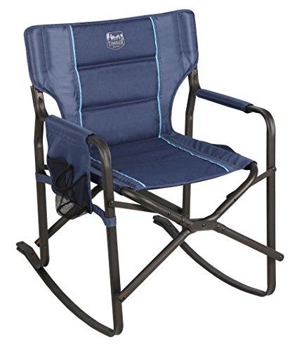 (Timber Ridge Acacia Rocking Director's Chair, Blue)