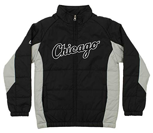 Outerstuff MLB Youth's Double Climate Full Zip Jacket, Chicago White Sox Small (8)