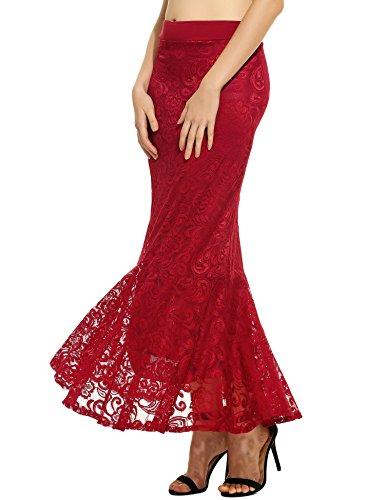 Red Long Skirt - 6