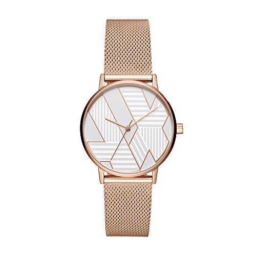 Armani Exchange Women's Quartz Stainless Steel Casual Watch, Color:Rose Gold-Toned (Model: AX5550)