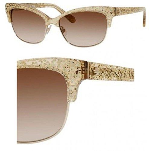 Kate Spade Women's Shira Cateye, Gold Glitter 55 -