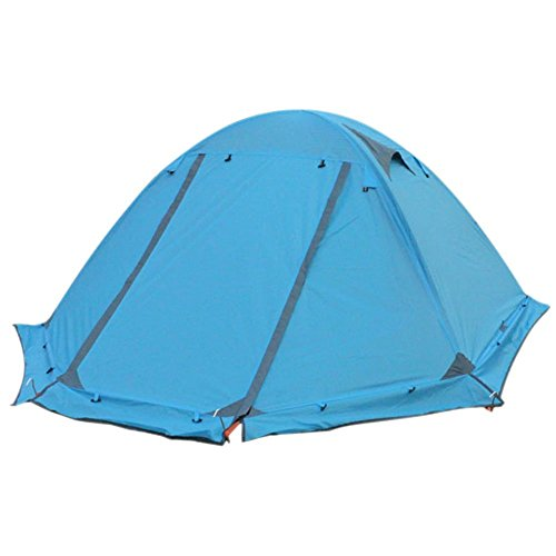 4-season 2-person Waterproof Dome Backpacking Tent For Camping Hiking Travel Climbing – Easy Set Up (Blue 4 season)