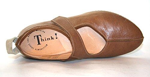 Think! - Bailarinas de Piel para mujer Marrón marrón Braun (hazel 49)