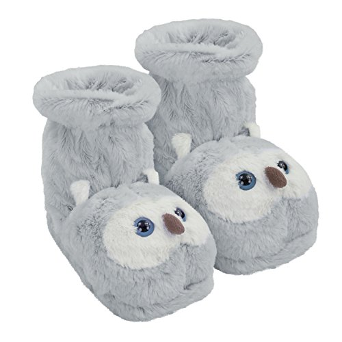 Aroma Home Shoes Fun For Feet Owl, Unisex Adults' Slippers, Grey (Grey), 7 UK (40/41 EU)