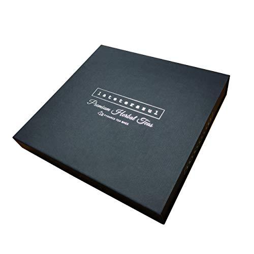 LA TETERA AZUL Pack De Tes E Infusiones Caja Surtida De Infusiones Variadas Set ideal para regalo 24 Piramides Envueltas Individualmente