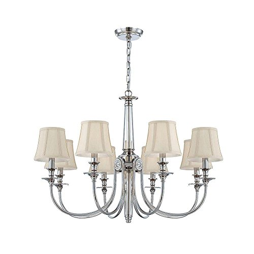 World Imports Lighting  25773 Mona Collection 8-Light  Polished Nickel Chandelier