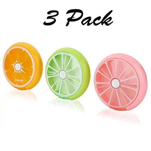 Muchengbao Set of 3 Travel Portable 7 Slot Vitamin Medicine Pill Box Case Holder Organizer - Edc Weekend
