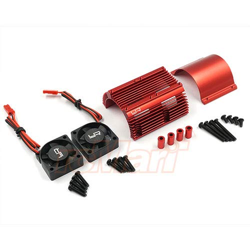 Yeah Racing Heat Sink with Twin Tornado High Speed Fans Sets for 1:8 Motors #YA-0261RD
