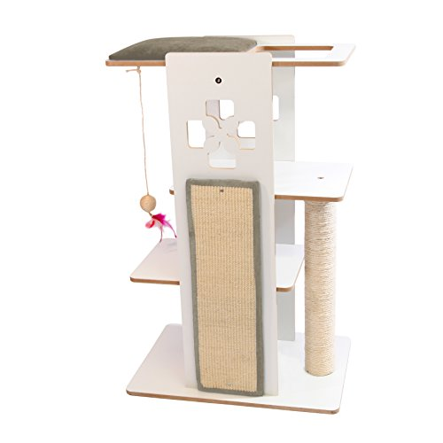 Majestic Pet Narrow Cat Tree Condo Furniture, 36 H x 23 W x16.5 L Inches