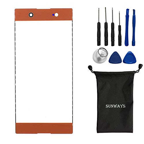 sunways Outer Glass Lens Screen Replacement for Sony Xperia XA1 Ultra G3221 G3212 G3223 G3226(Orange) (Sony Screen Replacement Kit)