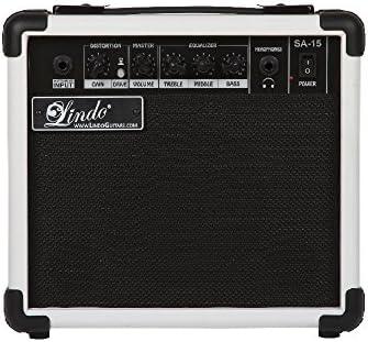 Lindo SA-15 Series 15W amplificador de 2 canales de la guitarra ...