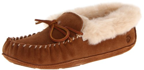 Acorn Women Sheepskin Moxie Moccasin Slipper Chestnut