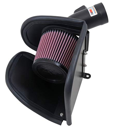K&N Cold Air Intake Kit with Washable Air Filter:  2014-2019 BMW/Mini Cooper (X1, X2, Active Tourer, Gran Tourer, Clubman, Countryman, S) L4, Black Metal Finish with Red Oiled Filter, 69-2026TTK