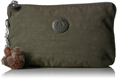 Kipling Creativity Xl Go Solid Pouch with Guitar Strap, Jaded Green by Kipling