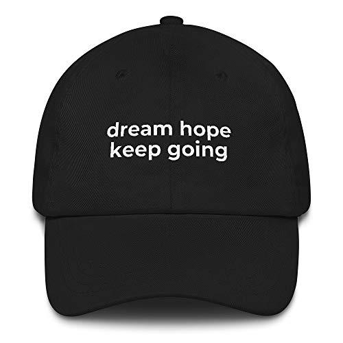Reasonable Goodies BTS Jimin Dream Hope Keep Going Hat   Kpop BTS Army Merch Black