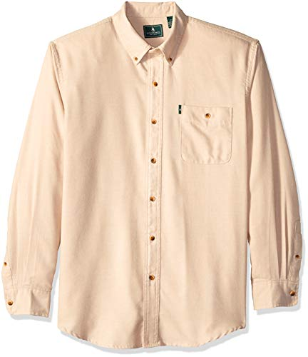 G.H. Bass & Co. Men's Jaspe Flannel Long Sleeve Shirt, Pale Khaki, Large