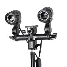 RavTech(TM) Double Twins E27 Swivel Socket Flash Lamp Bulb Light Holder Stand Mount Umbrella Bracket US Plug