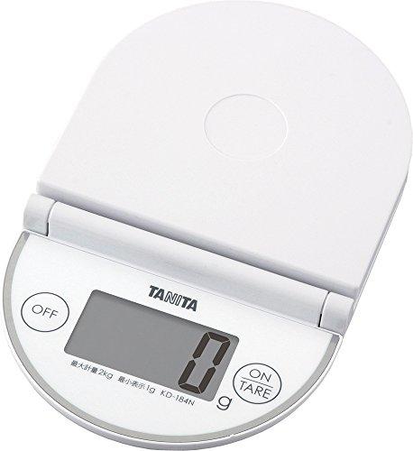 Tanita 타니타 저울질 스케일 접이식 2kg 1g 화이트 KD-184N WH