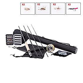 Pinty All-in-one Fly Fishing Combo Complete Starter Package 5/6 with 9 Feet Rod