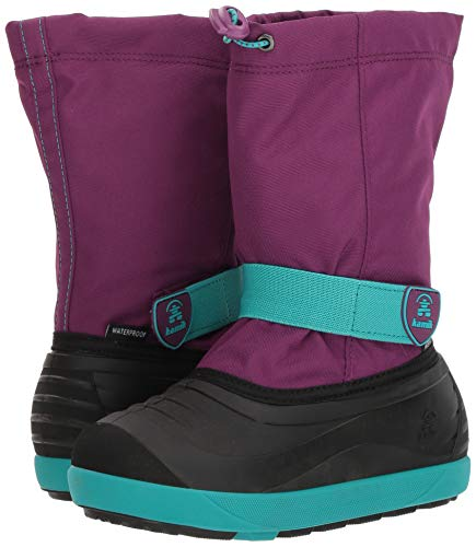 Pictures of Kamik Girls' JETWP Snow Boot, Purple/Teal, 9 Medium US Toddler 4