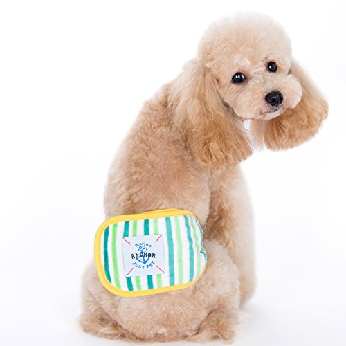 Image of Alfie Pet by Petoga Couture - Gaki Belly Band 3-Piece Set - Size: M (for Boy Dogs)