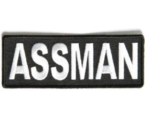 """(Q) Assman 4"""" x 1.5"""" Iron on Patch (3426) Biker Vest Jacket Cap Hat"""