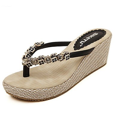 Women'szapatos de tac¨®n de cu?a Chanclas sandalias Casual m¨¢s colores disponibles US5.5 / EU36 / UK3.5 / CN35