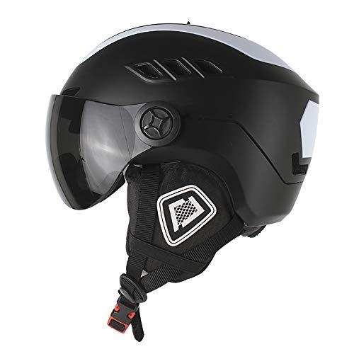 SCJ Ultra-Light Helmet with ski Goggles, Plus Velvet Warm, Breathable System, Unisex, M/L,Black,L]()