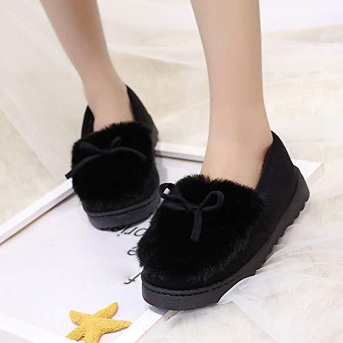 Botines Plataforma Oto o Se Mujer de PAOLIAN Botines Grande 2018 para Calzado Zapatos Nieve Suave Bajos Invierno con Negro Terciopelo ora Talla Lana Botas Antideslizante de Damas Moda Vestir para zqxtwtE4v