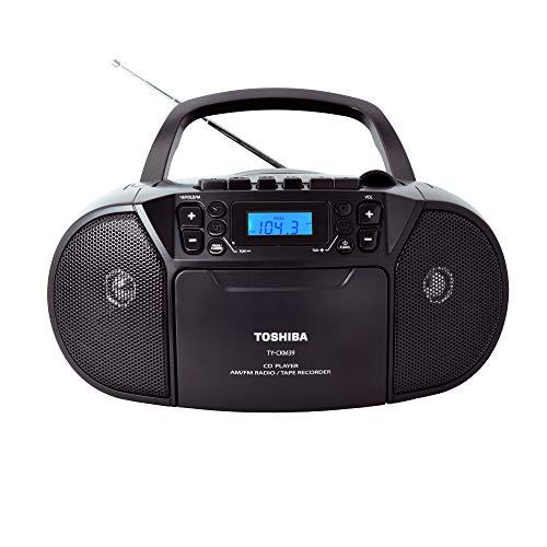 Toshiba - Caja portátil para CD, MP3 CD Cassette Boombox, Negro