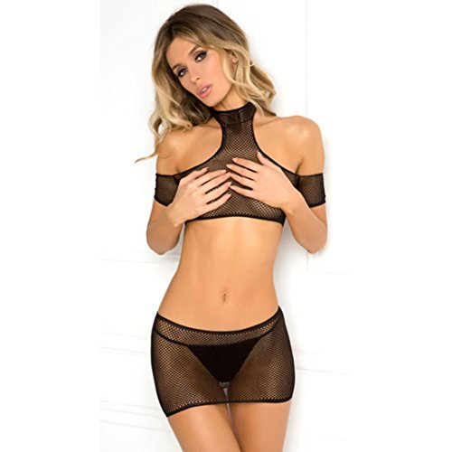 Women's Sex Appeal Lingerie, QIQIU Hollow Out Sexy Gauze Hollow Out Perspective Underwear Fashion Sex Appeal ()